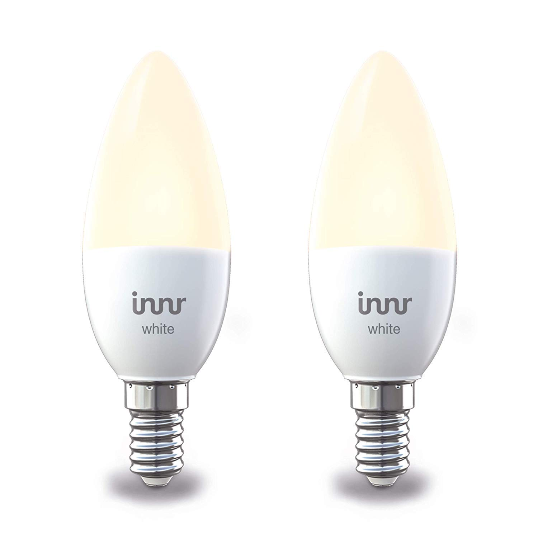 Philips Hue E14.Innr Smart Candle Bulb White E14 Works With Philips Hue Alexa