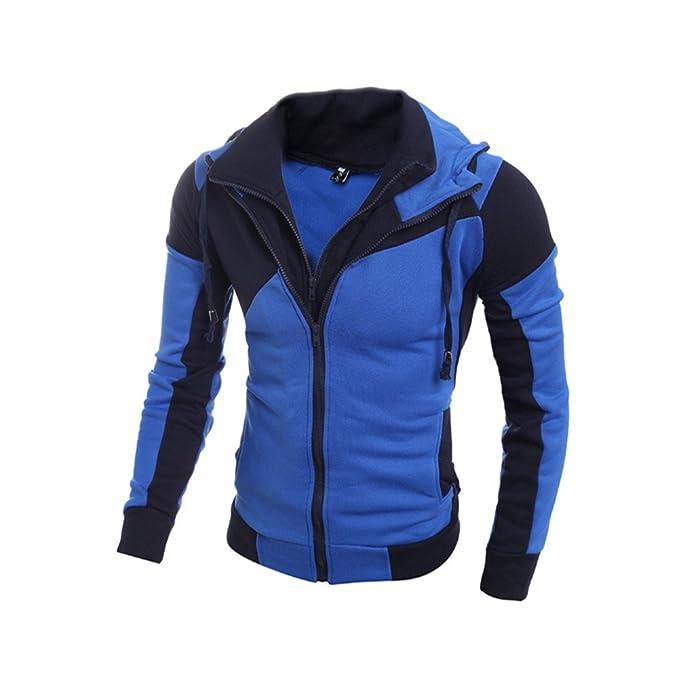 COCO clothing Chaquetas Hombre Encapuchado Casual Jacket Hooded Sudaderas con Capucha Abrigos College Caballero Coat Otoño
