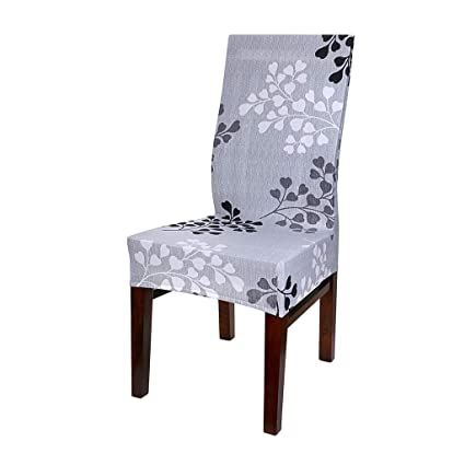 Wondrous Btsky Fabric Stretch Dining Room Chair Covers Set Of 6 Soft Spandex Fit Banquet Chair Seat Protector Slipcover With Printed Pattern For Home Party Download Free Architecture Designs Madebymaigaardcom