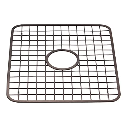 Oil Rubbed Bronze Kitchen Sink Drain Amazon kitchen sink grid protector rack with drain hole in kitchen sink grid protector rack with drain hole in middle oil rubbed bronze workwithnaturefo