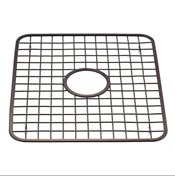Charmant Kitchen Sink Grid Protector Rack With Drain Hole In Middle, Oil Rubbed  Bronze