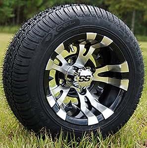 Amazon Com 10 Quot Vampire Machined Black Golf Cart Wheels