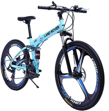 WZB Bicicleta de montaña Foiding, con Cuadro de Acero Mediano y ...