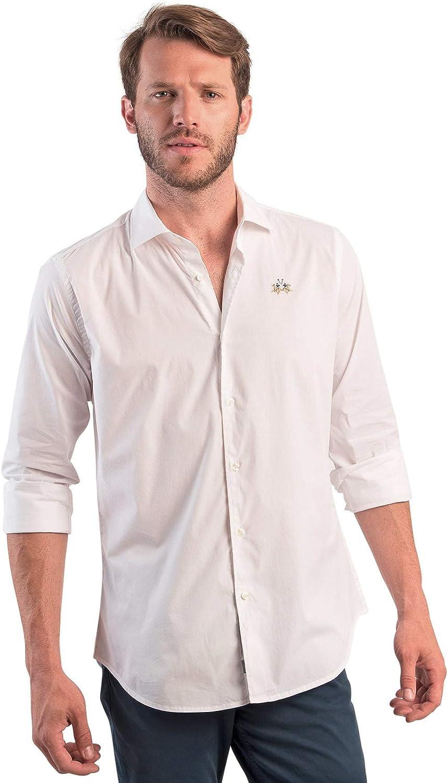 La Martina OMC002 PP003 Camisa Hombre: Amazon.es: Ropa y accesorios