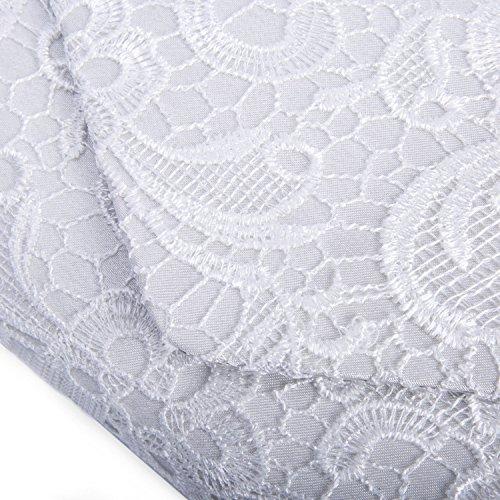 Wedding Satin Lace White Evening Bags Bag Elegant Ladies Shoulder Chain Kaever Clutch 7gH8WFFB
