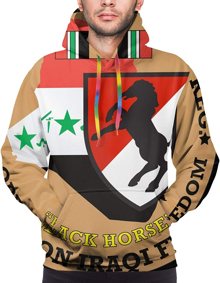 11th Armored Cavalry Regiment Mens Polyester Hoodie Pullover Hooded Sweatshirt