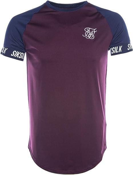 Sik Silk Hombre Camiseta Raglan Tech, Azul, Small: Amazon.es: Ropa y accesorios