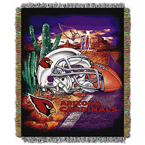 The Northwest Co NFL 051 Dolphins Helmet Woven Tapestry Throw Arizona Cardinals