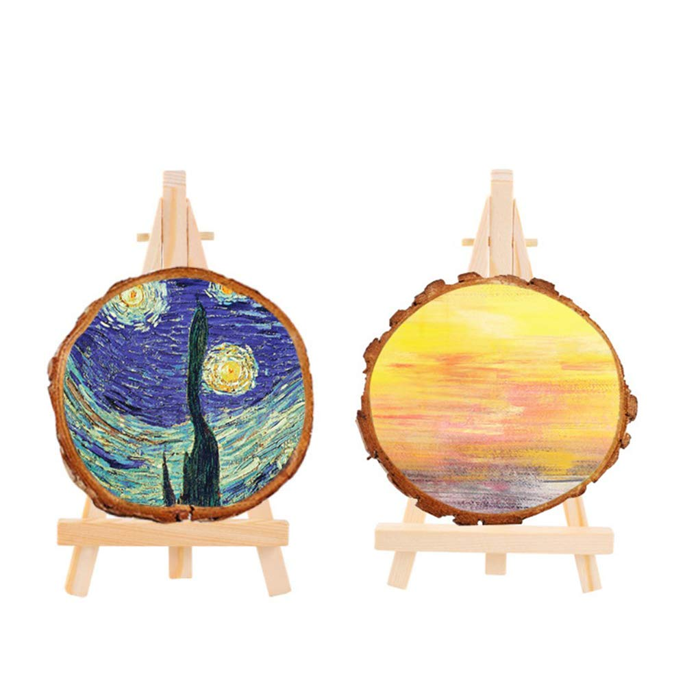 Amaoma Mini Easels Stands Wooden Place Card Holders Table Easel Small Photo Holders Display Stand Table Top Easel Table Number Holder Stand Phone Holder for Wedding Birthday Party Table Setting 10 Pcs