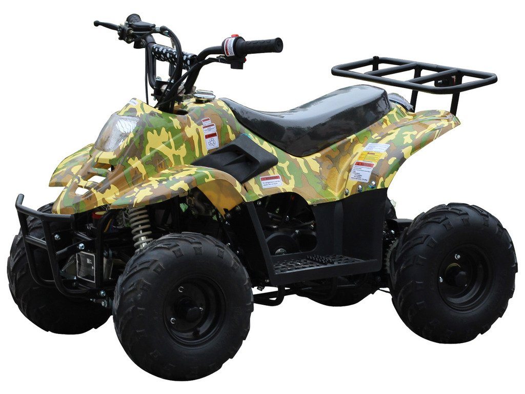 Amazon.com: 110cc ATV Four Wheelers Fully Automatic 4 Stroke Engine 6 Inch  Tires Quads for Kids Spider Black : Automotive
