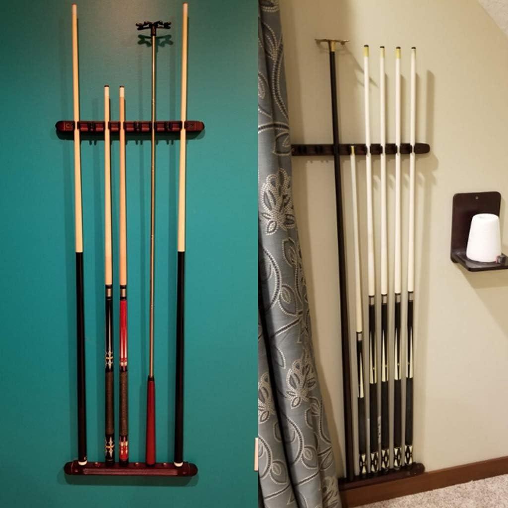 SUMNACON Ein Set Billard-Queue-Halterung aus Holz mit 8 Queue-Clips f/ür Billard Snooker-Zubeh/ör