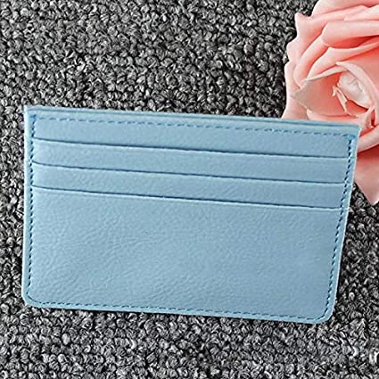 5594a726b45 Image Unavailable. Image not available for. Color  ForShop Durable Unisex  Slim Card Holder Mini Wallet ID Case PU Leather Women Men Mini Money