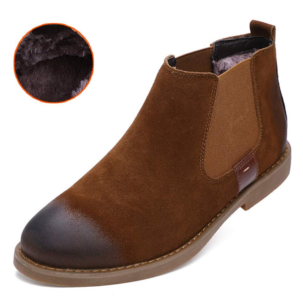 Super color Men's Fashion Chelsea Suede Dress Chelsea Fashion Boots Scrub Comfort Plus Velvet Warm Martin Boots B07GRX5L4F Chelsea 0fac28