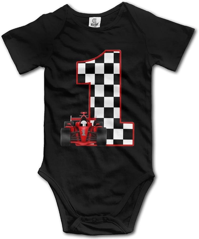 1st Birthday Race Car Personalized Cute Unisex Baby Boy Girl Onesise