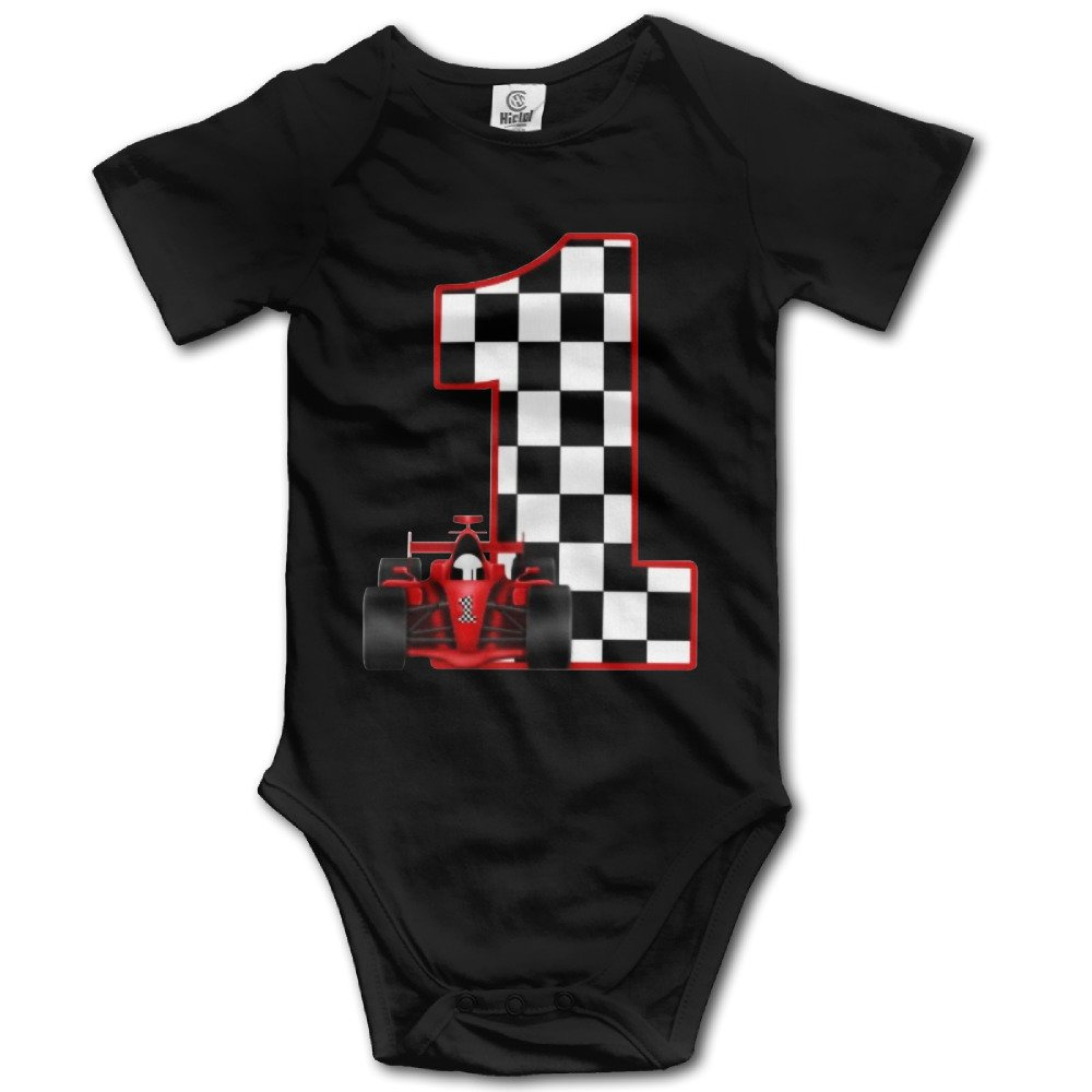 1st Birthday Race Car Personalized Cute Unisex Baby Boy Girl Onesise