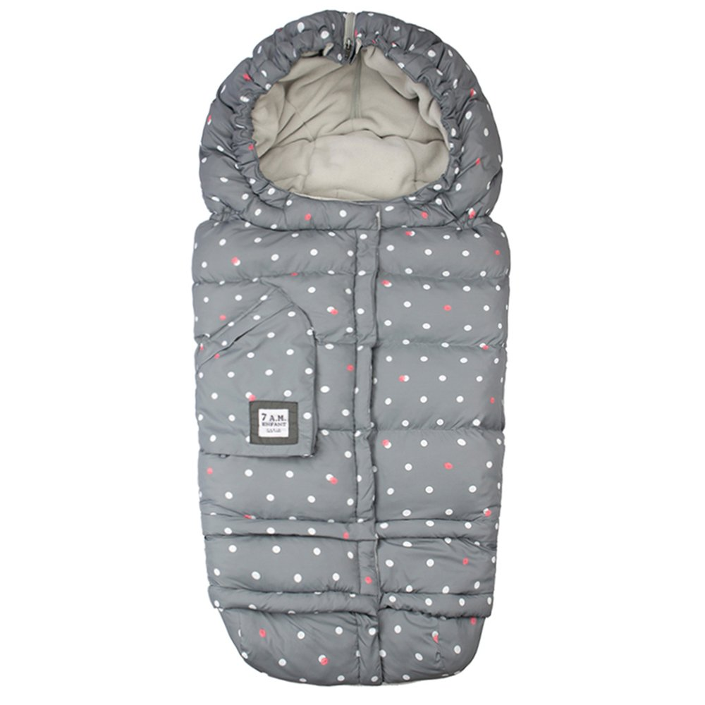 7 A.M. ENFANT Blanket Evolution 212, Grey Polka Dots B212E-PGRD