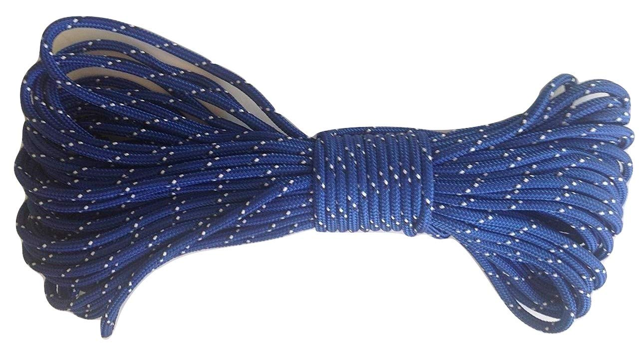 5/16'' by 100 Feet Double Braid Polyester Rope Blue/White