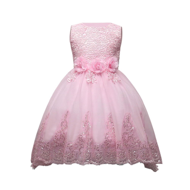 Fuyingda Enfants Diamante Robe de Demoiselle D'honneur Filles Princesse Mariage Puff jupe Party Flower Bow