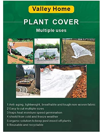 Plant Frost Blanket Plant Covers Freeze Protection 6.5X 33ft Plant Floating Row Cover for Vegetables Insect Protection Season Extension Increase Temperature Humidity