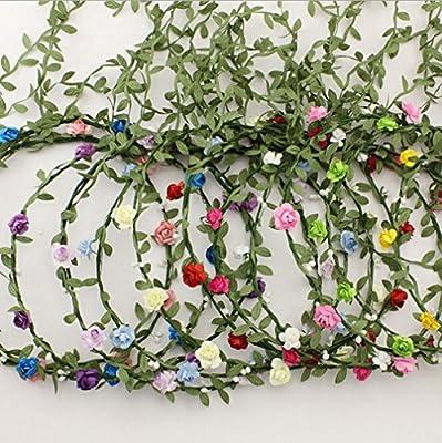 AWAYTR Lady Girl Fashion Bohemian Flower Crown Floral Garland Headbands