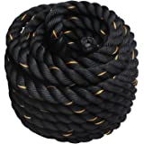 Display4top 9M /12M /15M Battle Rope Strength Training Training Undulation Fitness Exercise (38mm * 9m)