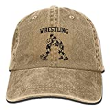 USA Wrestling Logo Baseball Caps Graphic Plain/Flat Fitted Hats for Teen Girls