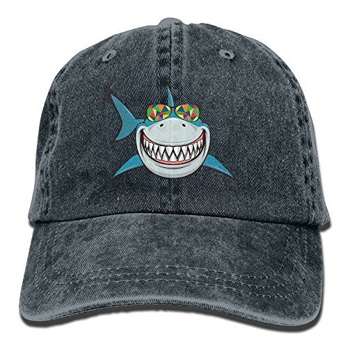 MingDe YY Shark With Colored Sunglasses Vintage Trucker Hat Washed Denim Adult Cowboy Hat Baseball - Sunglasses Where Me Near To Buy