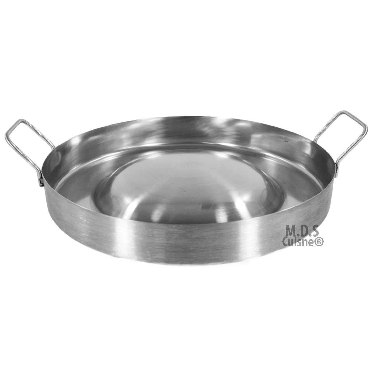 Stainless Steel Comal Convex 16'' Round Cook Griddle Taco Grill Pan Heavy Duty