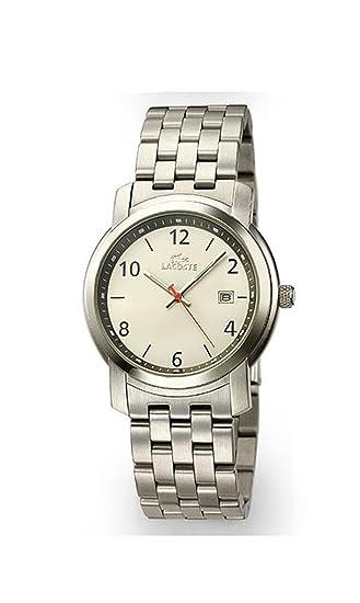 Lacoste 5500G 62 - Reloj analógico de caballero de cuarzo con correa de acero inoxidable plateada