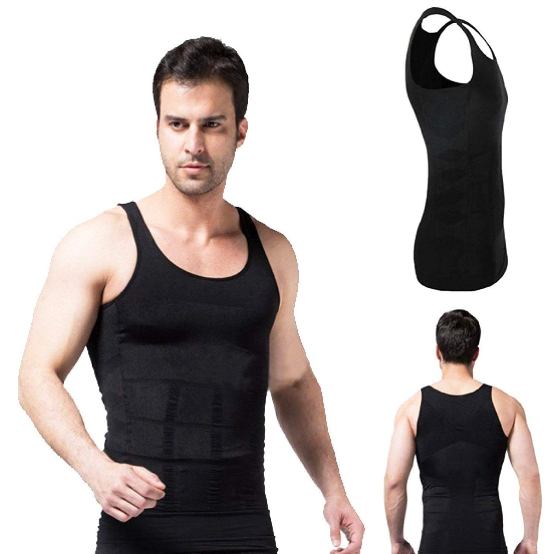 TV Slim N Lift Men Slimming Tummy Shaper Shapewear Tight-fitting Vest Underwear