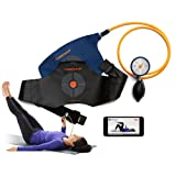CoreCoach Deep Core Strength and Stability Trainer. Physical Therapy and Fitness for Back Pain. Easy-Read Gauge and Durable Nylon air Pillow. Free Video Training + Instruction Manual, Carry Bag (Color: Blue)