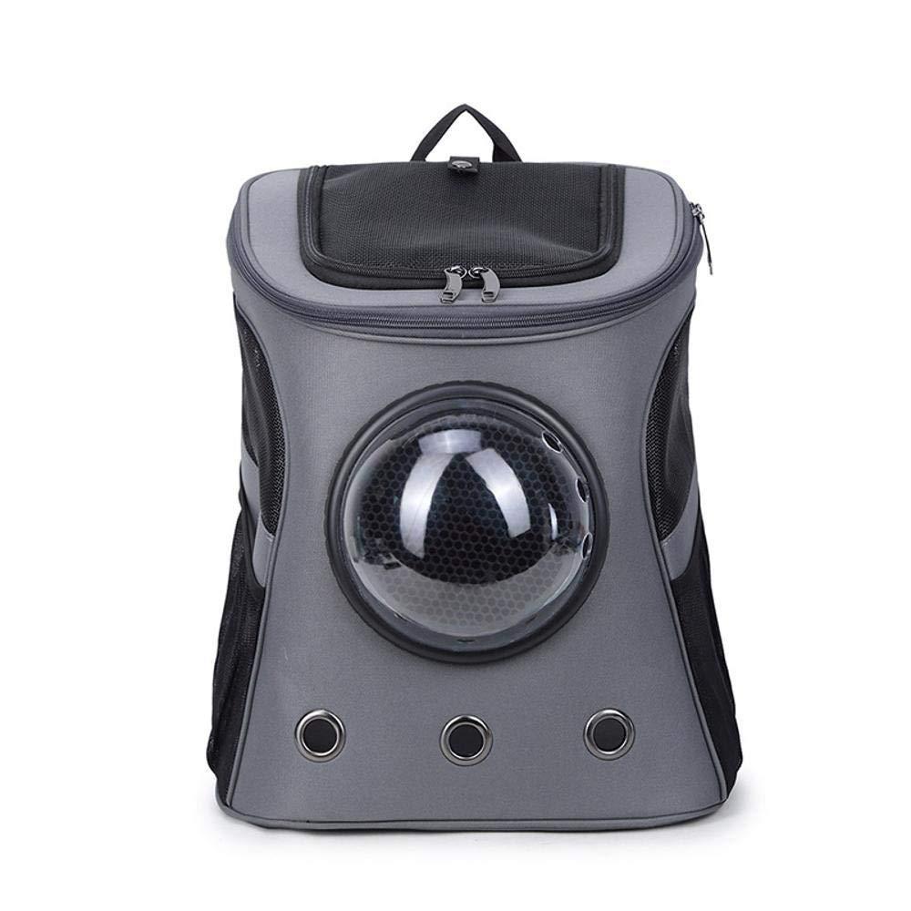 B Maerye Pet Bag Canvas capsule pet backpack Transparent breathable backpack out portable cat bag pet transport bag suitable for 58 kg dog