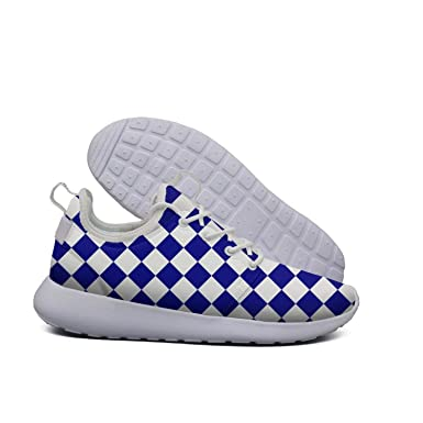 0212539603ee8 Amazon.com: Chequered Checkered Squares Blue Royal Purple Light ...