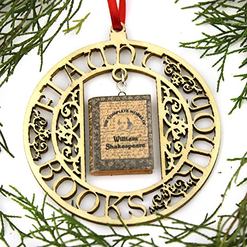 Juliet Frame Accessory - WILLIAM SHAKESPEARE The Complete Works Clay Mini Book FRAMED Home Décor Ornament by Book Beads