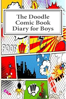 the doodle comic book diary for boys activity drawing coloring books - Drawing Books For Boys