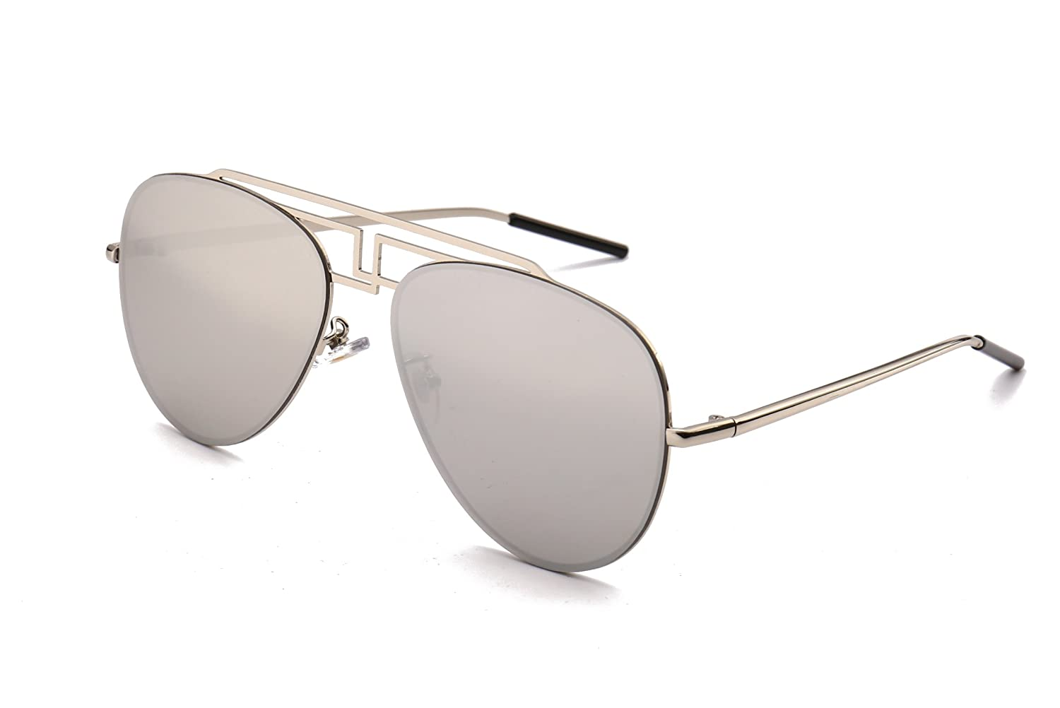 GAMT Mirrored Metal Aviator Sunglasses Rimless Sunglasses for Men and Women