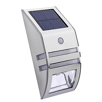 Gazechimp Wand Solar Außenleuchte Mit Bewegungsmelder Außenlampe Sensor Bewegungssensor Infrarot Hoflampe Gartenlampe Gartenleuchte Wandstrahler