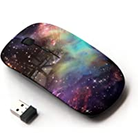 STPlus Galaxy Space Clouds 2.4 GHz Wireless Mouse with Ergonomic Design and Nano Receiver