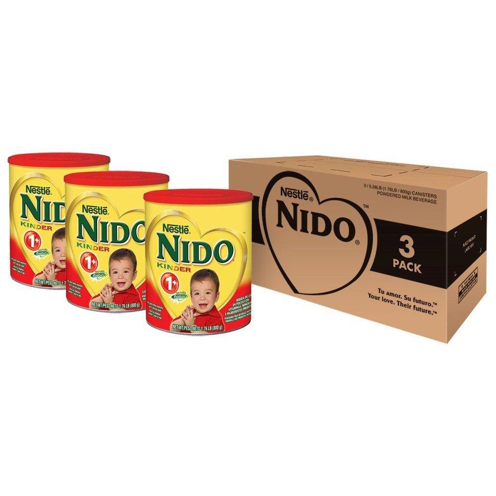 Nido Kinder 1+ Powdered Milk Beverage, 1 76 Pound, 3 Count