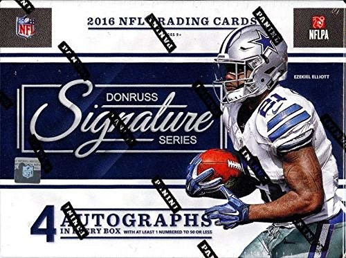 Signature Series Autographs Hockey Card (2016 Donruss Signatures Series Football Hobby Box (1 Pack of 4 Cards: 4 Autographs))