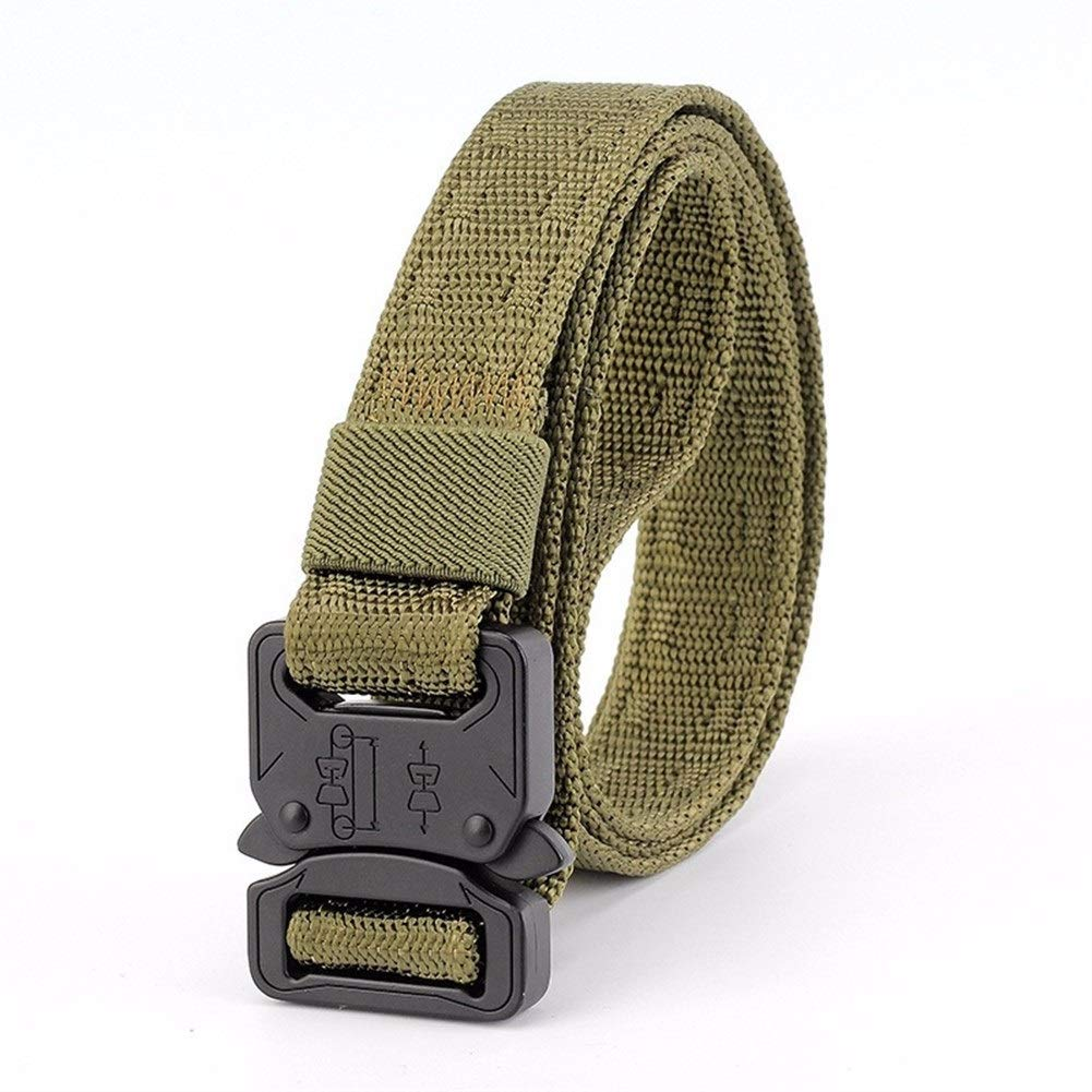 Zesion Tactical Belt 2.5cm Tactical Belt Mens Canvas Belt Youth Simple Outdoor Multi-Function Sports Army Fan Nylon Belt,Buckle Hypoallergenic Training Tactical Outdoor Belt Color : T2