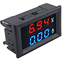 Superb 100V 10A Dc Dual Led Red and Blue Digital Voltmeter Ammeter Monitor Panel