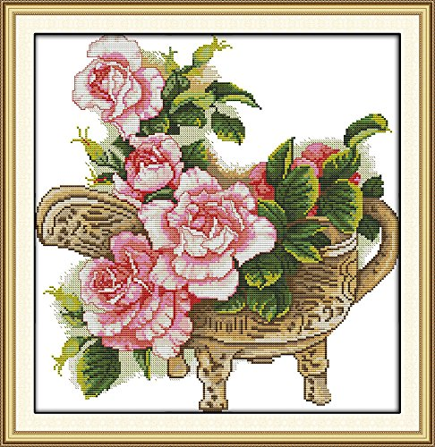 Happy Forever Cross Stitch Flowers H651, Peony