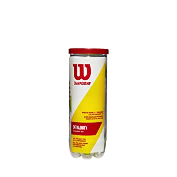 Wilson Champ Extra Duty Pelotas de tenis, tubo con 3 pelotas, para ...