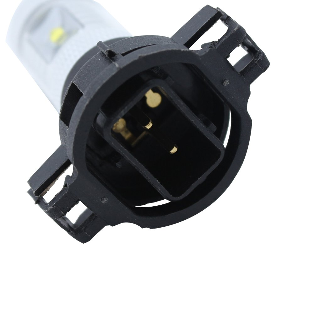 5202 2504 H16 Led Bulbs For Fog Lights Driving Lamps Mustang Gt500 Ps24w Adapter Drl Relay Wiring Harness Ebay Gmc Acadia