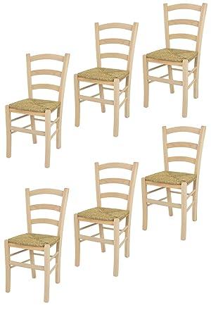 Tommychairs sillas de Design - Set 6 sillas clásicas Venice para ...