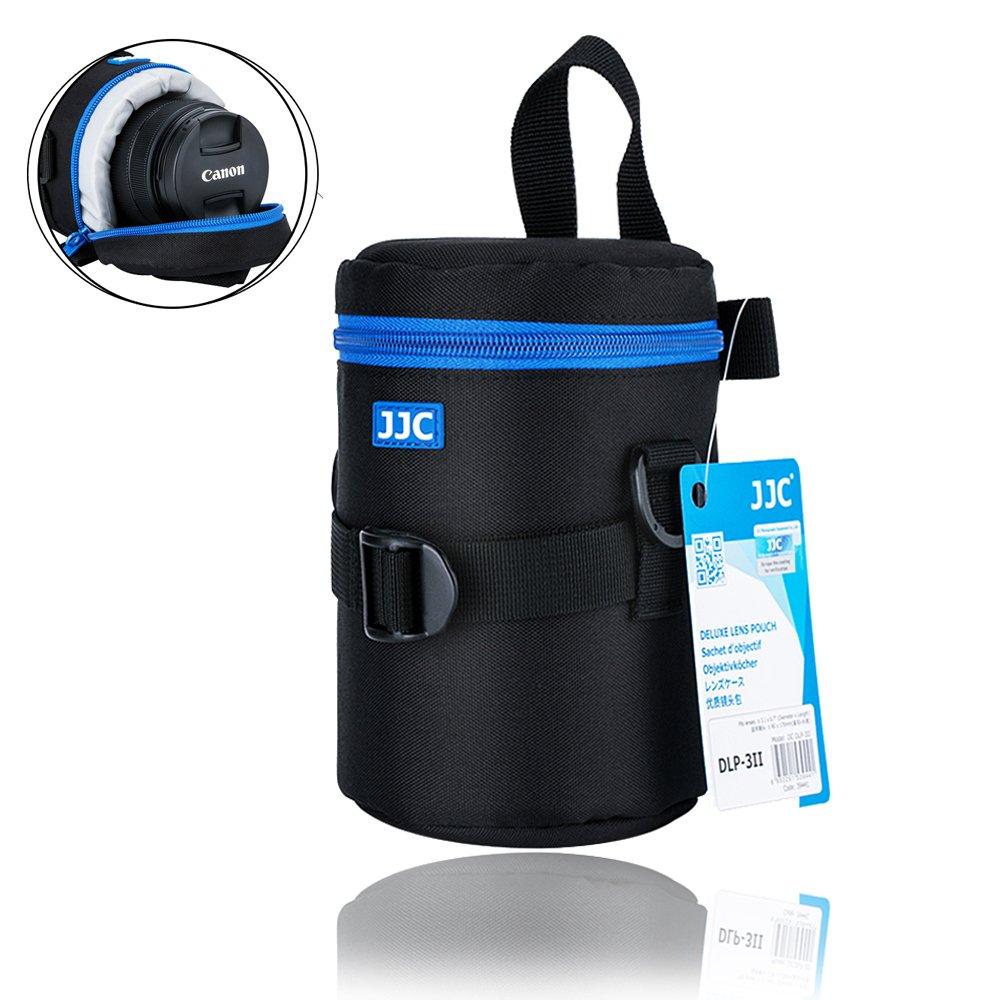 "Camera Lens Pouch JJC DSLR Camera Lens Bag Case for Canon 100-300mm 75-300mm 24-70mm 55-250mm 135mm Nikon 55-300mm 70-300mm Tamron 10-24mm for Lens with 3.15x6.69"" by JJC"