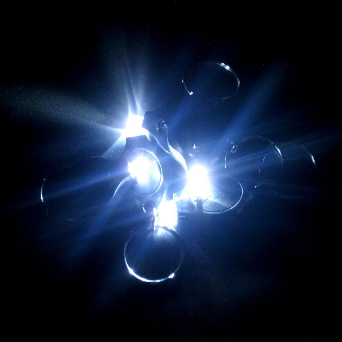 SunbowStar 50pcs 2200MCD Mini LED Light Lamp Keychain Blue Body Colors White Lights Colors