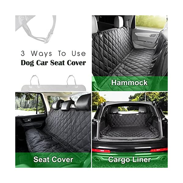 K9KONNECTION Pet Seat Cover For Cars BONUS Dog Seat Belt Leash Gift Set Waterproof Scratch Proof Nonslip Backing Hammock Ultimate Car Accessories For Pets Dog Seat Cover For Backseat