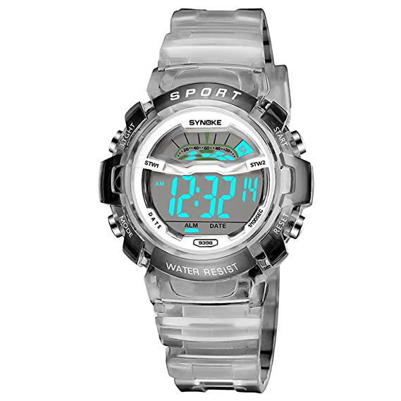 Synoke Children Wrist Watch Waterproof Silicone Digital Watches Kids Fashion Led Sport Watch Students Watches Hour Clock Gift Attractive Appearance Watches